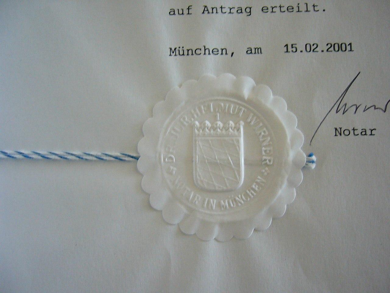 German Notarial String