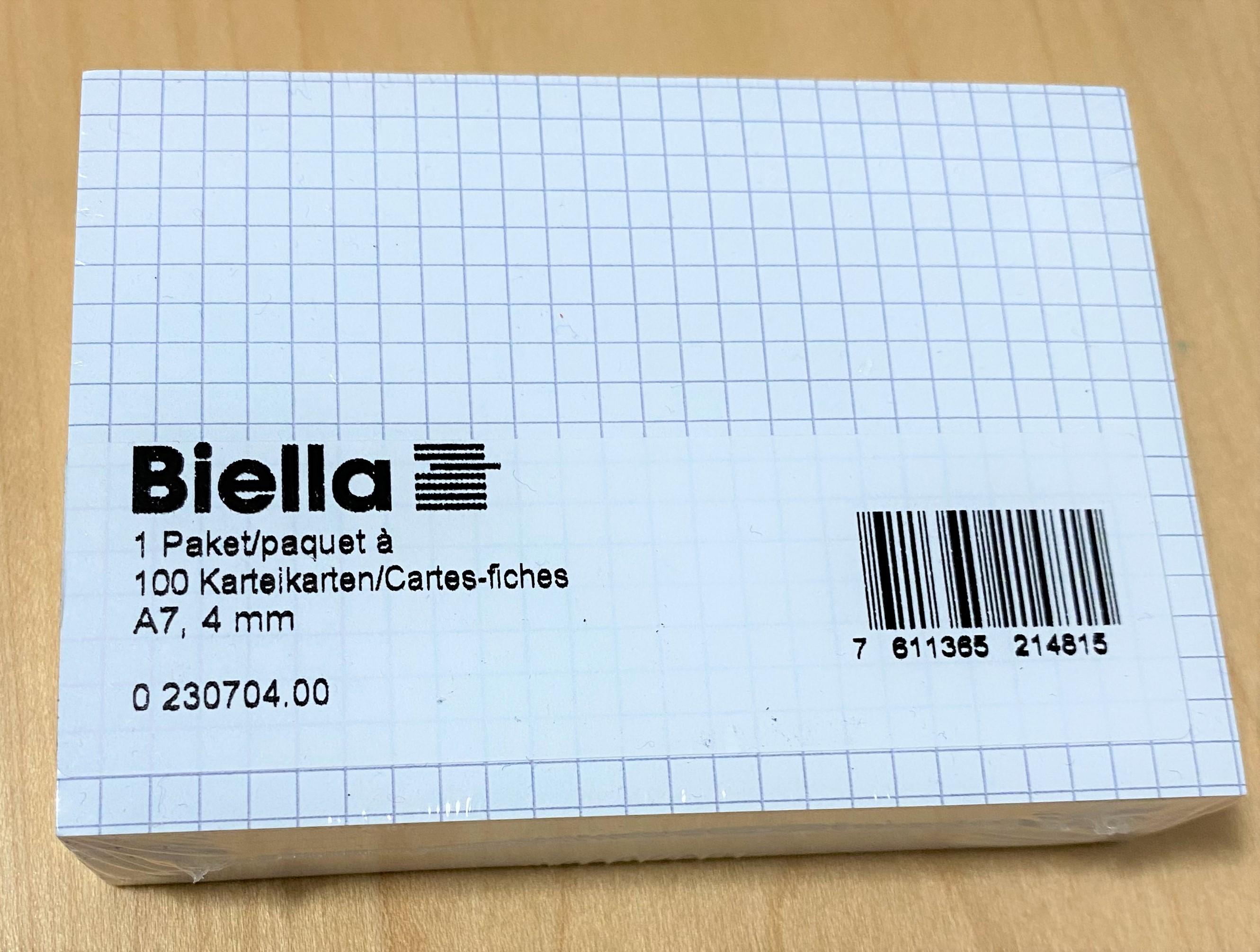 Biella Index Card