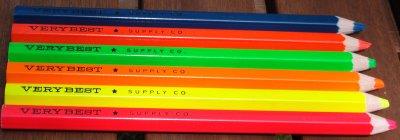 International Arrivals fluorescent pencils