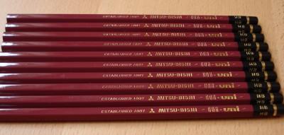 Mitsubishi Hi-Uni pencils.