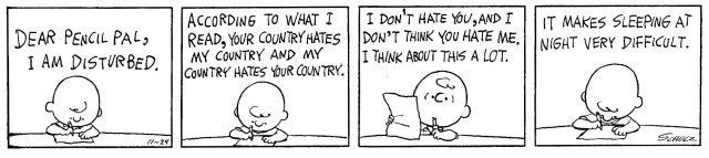 Charlie Brown's pencil pal