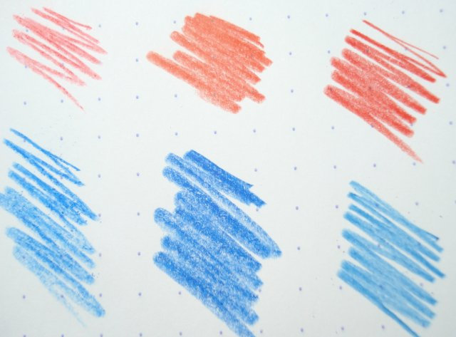 red and blue pencils