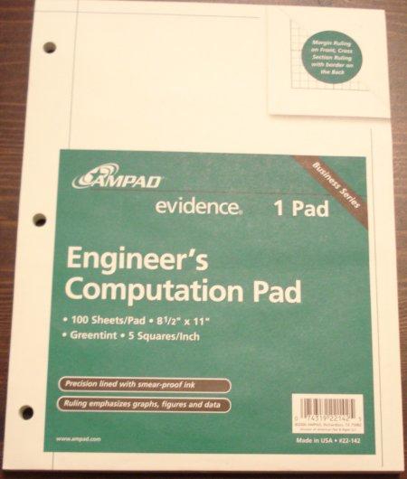 Ampad Engineer's Computation Pad