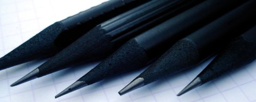 Black dyed pencils
