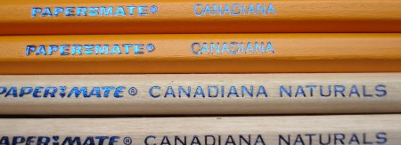 Papermate Canadiana and Canadiana Naturals pencils