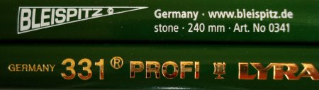 Stonemasonry pencils - the Bleispitz 0341 and Lyra 331 Profi
