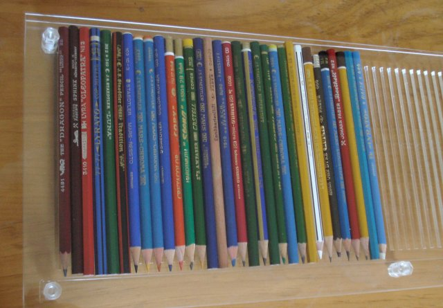 Display cases for pencils
