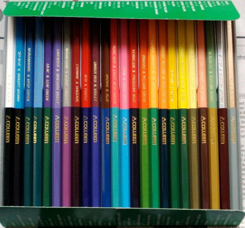 Double ended colour pencils