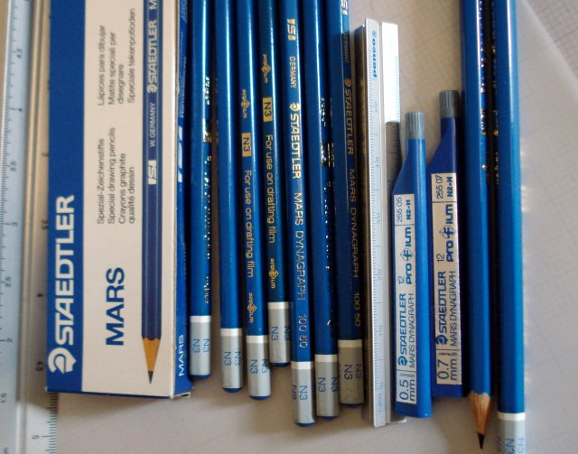Staedtler Mars Dynagraph pencils and leads