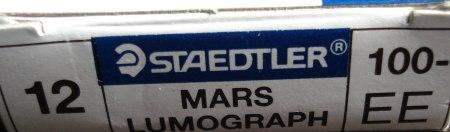 Staedtler Mars Lumograph 100 in grade EE