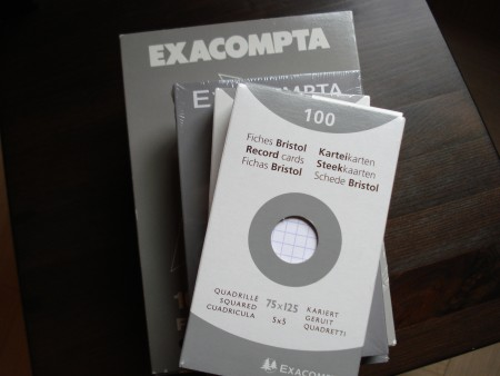 Exacompta Squared Record Cards