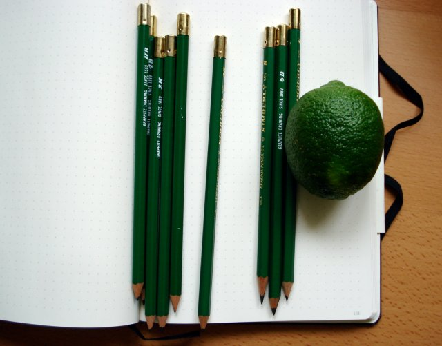 General Kimberly pencil and a lime