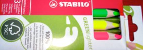 Stabilo GREENlighter highlighting pencils