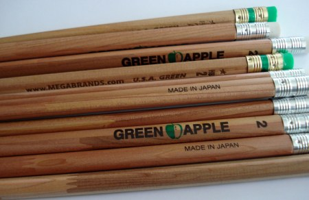Pencils made from wood scraps