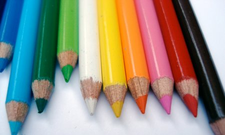 Miniature colour pencils