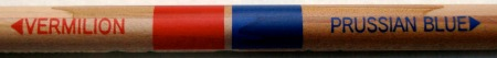 Mitsubishi 2667 EW red and blue pencil