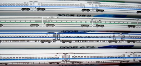 Mitsubishi train pencils
