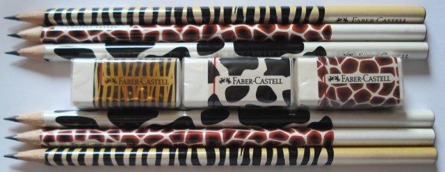 Faber-Castell animal print pencils