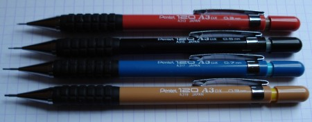 Pentel 120 A3 DX drafting pencils