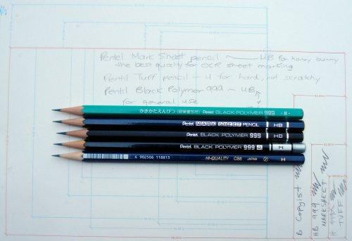 Pentel woodcase pencils