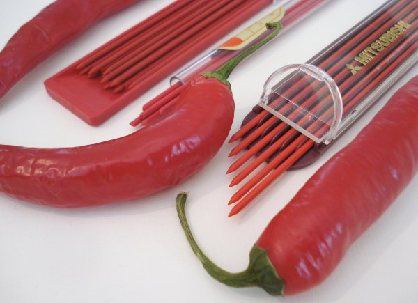 Red pencil lead refills