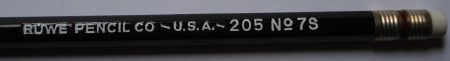 Ruwe Pencil Co. 205 No. 7S pencil