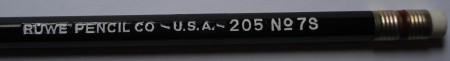 Ruwe Pencil Co. 205 No. 7S pencil