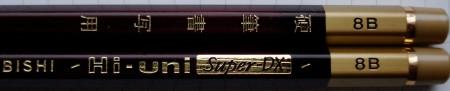 Mitsubishi Hi-Uni Super-DX and Hi-Uni 8B pencils