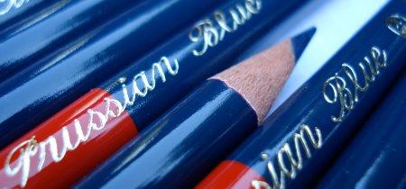 Kita-Boshi Vermilion and Prussian Blue 9667 pencil