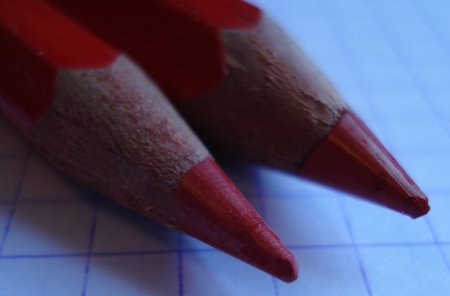 Viarco Red and Blue pencils