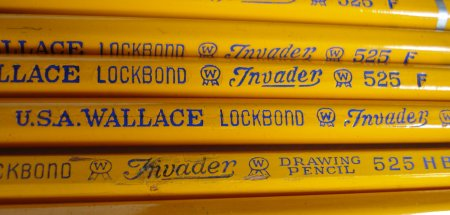 Wallace Invader pencil